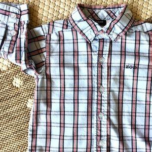 IZOD Boys Button Down Shirt Size 12 months